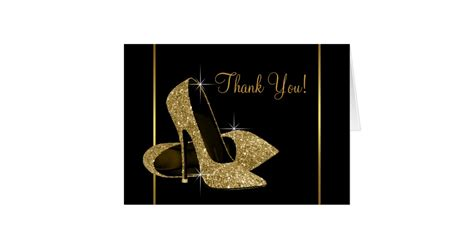 B D We Buy Gold Gift Cards Electronics Glendale Az - black and gold high heel shoe thank you card zazzle com