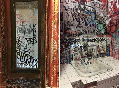 bar bathroom this 30 week grimy lower east side bar bathroom is a hot ticket 6sqft