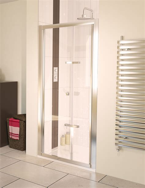 Aqualux Shower Doors Aqualux Aqua 6 Bi Fold Shower Door 900mm Polished Silver