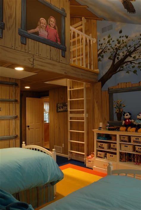 tree house bedroom eclectic kids minneapolis