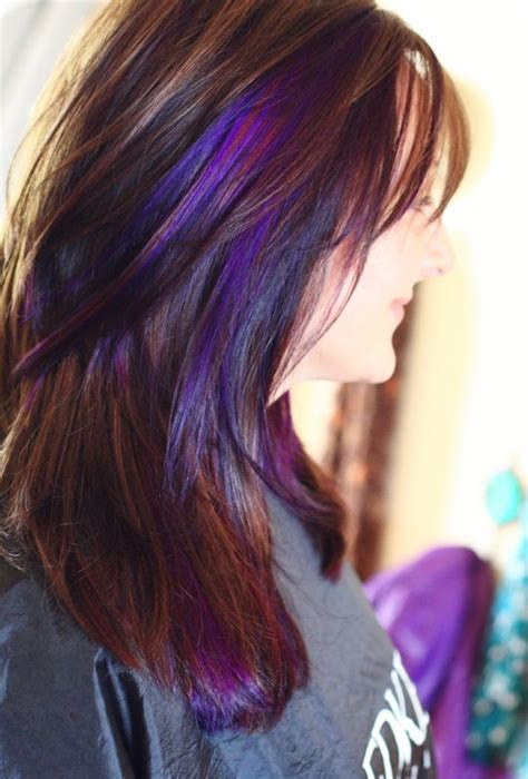 hairstyles peekaboo highlights purple peekaboo highlights photomy hair styles pictures