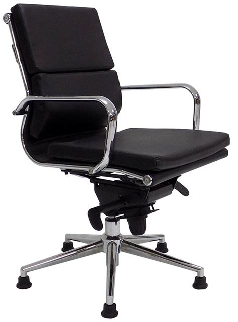 swivel chair glides leather soft pad swivel guest chair on glides white