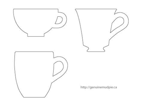teacup template a cup of tea genuine mudpie
