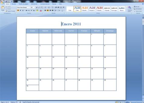 Generar Calendario C 243 Mo Crear Calendarios En Word 5 Pasos Con Im 225 Genes