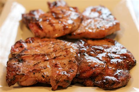 grilled brown sugar glazed pork chops normal cooking