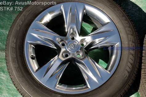 Toyota Wheels 2015 Toyota Highlander Limited Oem Factory 19 Quot Chromtec
