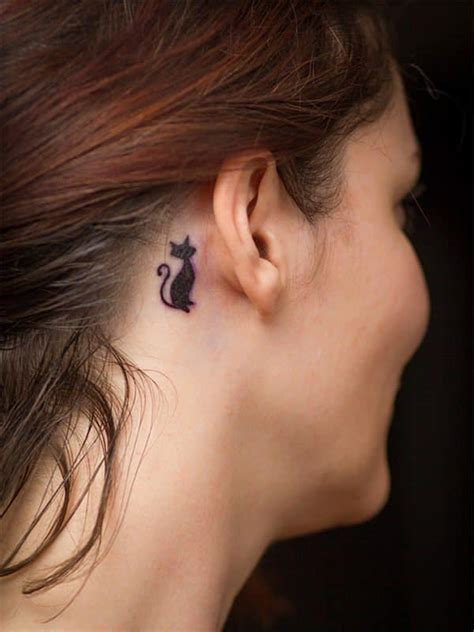 cat tattoo behind ear 117 cat tattoos that are way too purrfect