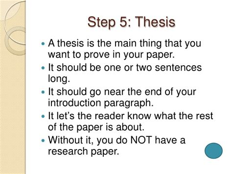 where does the thesis go in a research paper writing a research paper in 10 easy steps