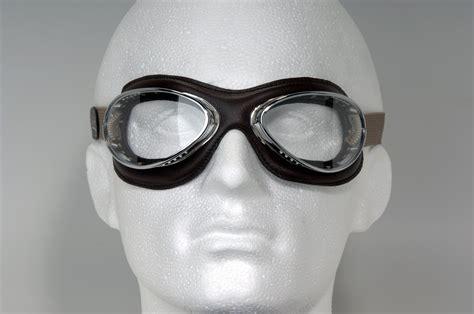 Masker Goggle aviator retro cuir mask goggles greycargreycar