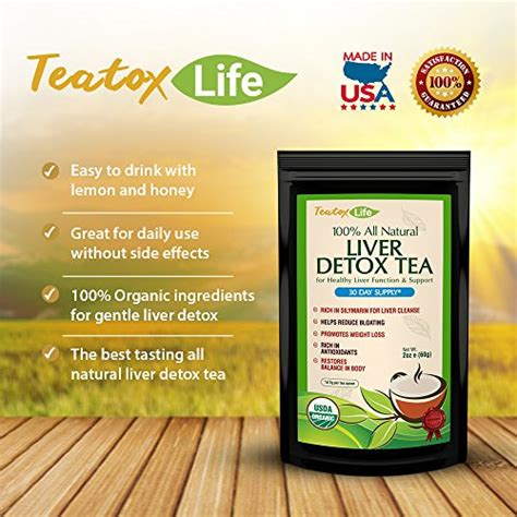 Teatox Lyfe Detox Tea by Teatox Liver Detox Tea With Dandelion Root Milk