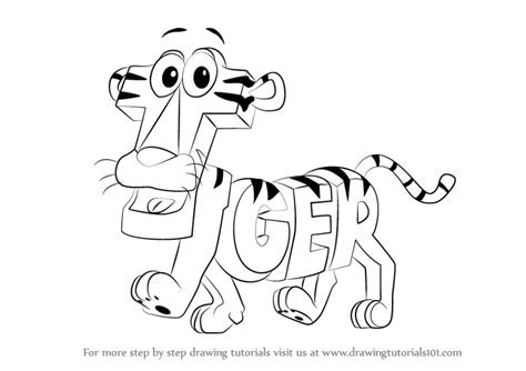 learn how to draw tiger from wordworld wordworld step by