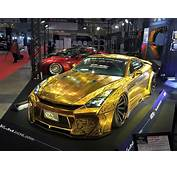 This Gold Plated Finely Engraved Nissan GT R By Kuhl