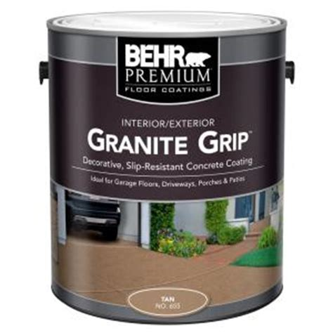 behr 1 gal 65501 granite grip interior exterior concrete paint 65501 the home depot