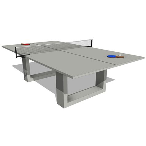 de wulf concrete ping pong dining table 10453