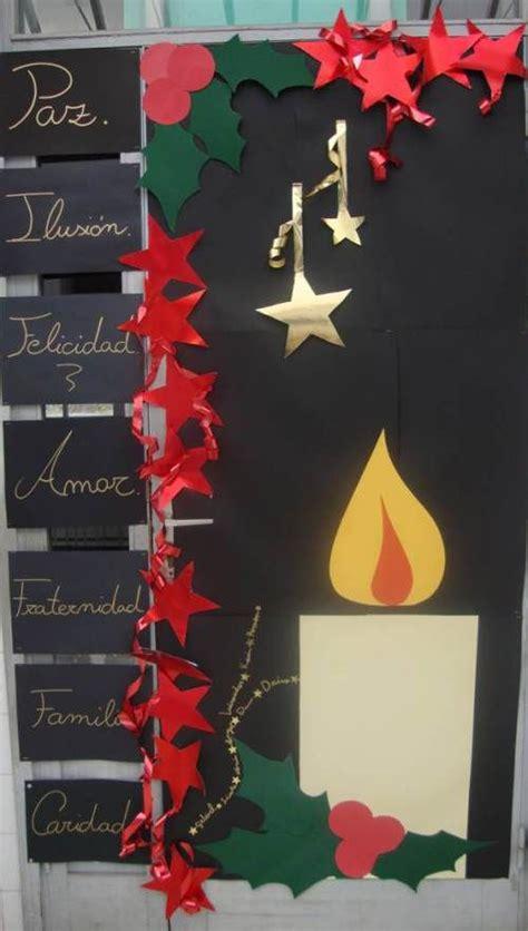 decorar puertas de navidad puerta decorada navidad vela decos navidad puerta de