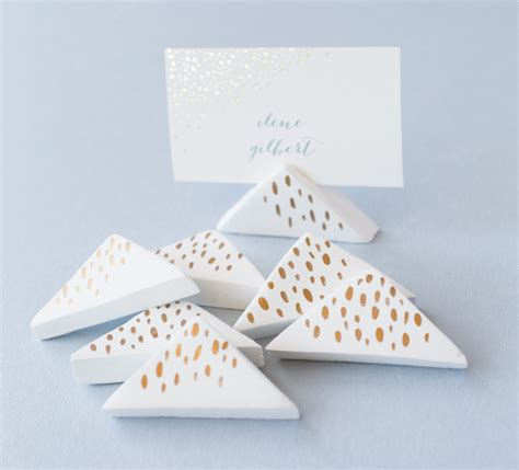 diy place card holders diy wedding air dry clay place card holders julep