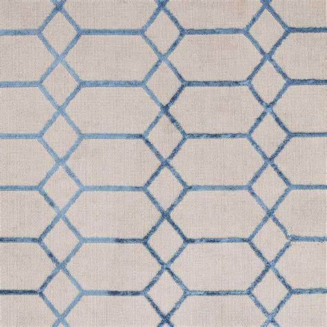 Tapis Beige Et Bleu by Tapis Contemporain Graphique Beige Et Bleu En Viscose