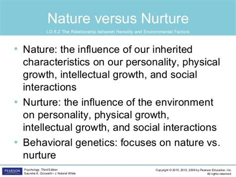 exle of nature vs nurture psyc1101 chapter 8 4th edition powerpoint