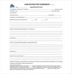 Contract For Subcontractors Template by Subcontracting Contract Template Bestsellerbookdb