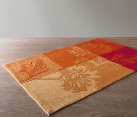 teppich 140 x 160 teppich 140 x 200 cm orange rot bei tchibo