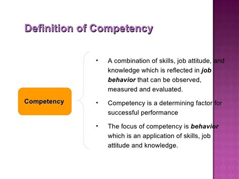 Mba Competencies by Competency Mapping Definition N 252 Rnberg
