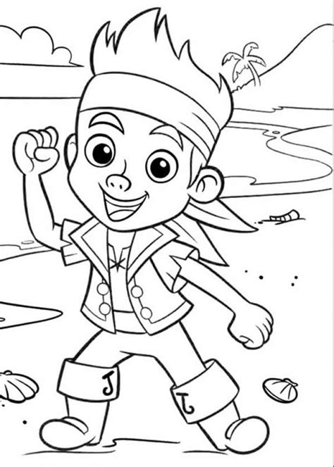 Jake And The Never Land Pirates Coloring Pages Az Jake Coloring Pages