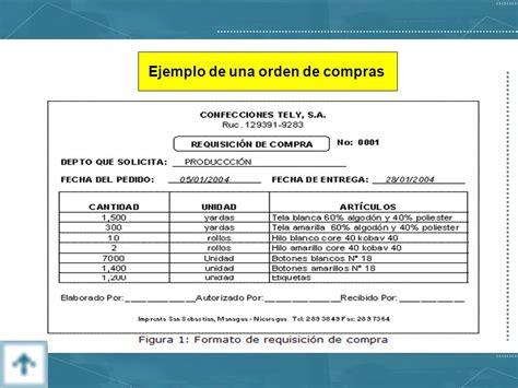 departamento de compra formatos de requisici 243 n y orden de ejemplo de requisicin de compra departamento de compras
