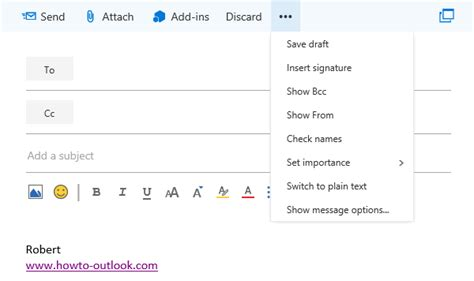 Office 365 Outlook Bcc Always Show The Bcc And From Field In Outlook On The Web