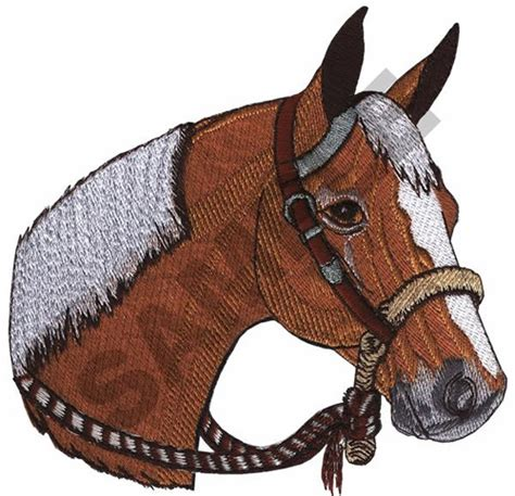 embroidery design horse head animals embroidery design palomino horse head from great