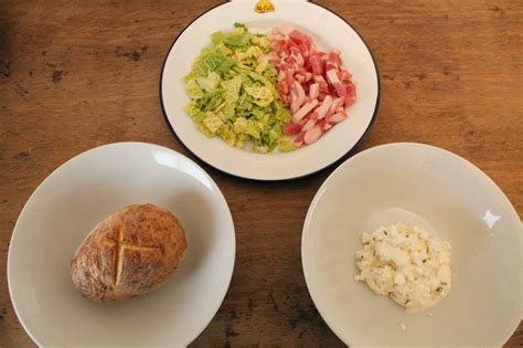 healthy easy recipe cottage cheese jacket potato with a