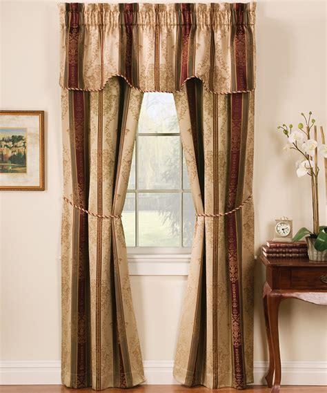 Arlee Home Fashions Curtains Arlee Home Fashions Autumn Tuscan Stripe Jacquard Five Curtain Set Zulily