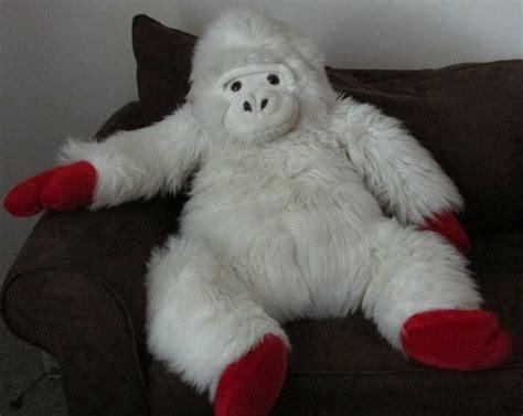 big stuffed monkey for valentines day white ape gorilla monkey soft doll