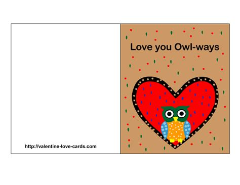 Cards Printable - cards with owls