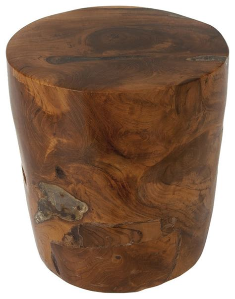 brimfield may teak wood resin stool 14 quot w 15 quot h accent