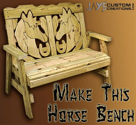 drawing horse bench plans how to make a horse themed bench jays custom creations