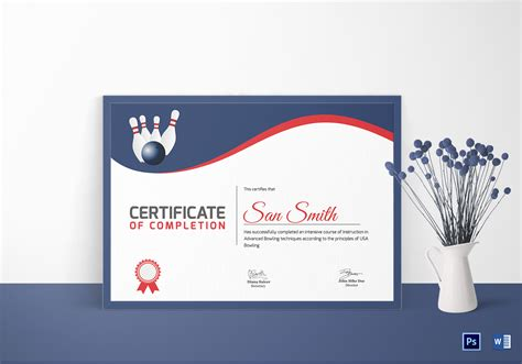 bowling certificate template free printable bowling certificate design template in word psd