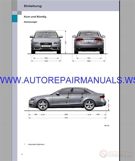 Audi A4 B8 Service Amp Repair Manual 1995 2008 Auto Repair