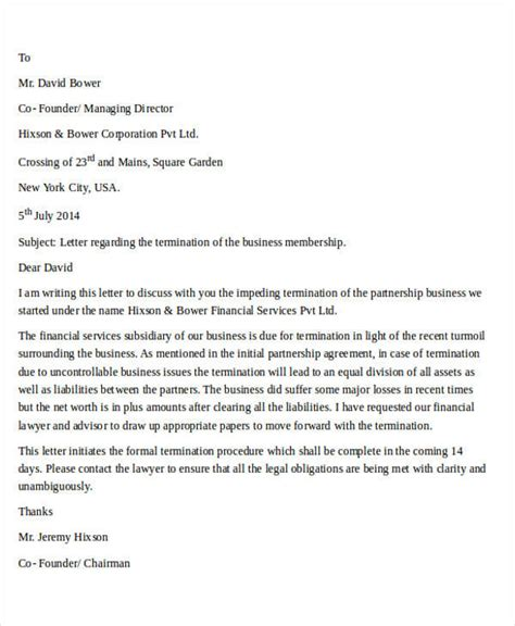 termination letter reseller agreement termination letter format