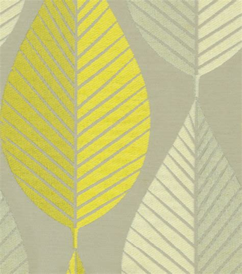home upholstery fabrics hgtv home upholstery fabric looseleaf citrine at joann com