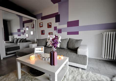Salon Violet Et Gris