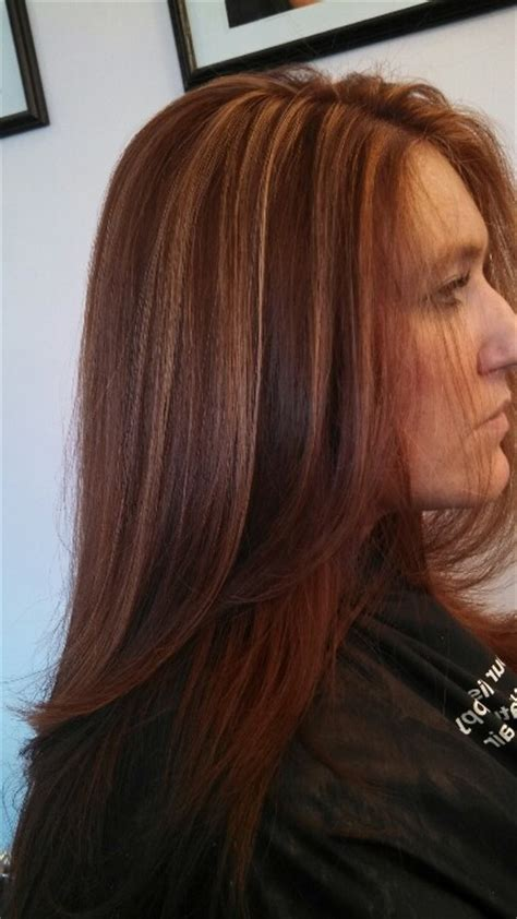 dark brown hair with copper highlights what s the best red copper color with caramel highlights hair by me