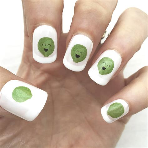 Nail Transfers by Brussels Sprout Nail Transfers By Hoobynoo