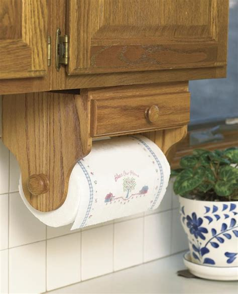 wooden paper towel holder cabinet paper towel holder woodworking plan from wood magazine