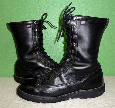 lewis boots mens vtg danner fort lewis black leather insulated boots s