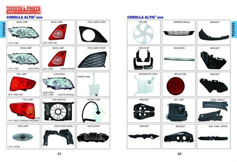 toyota online account toyota body parts catalog head l rear l bumper