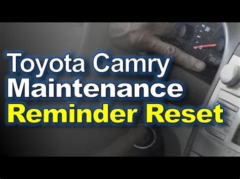 reset maintenance light toyota camry 2011 toyota camry reset maintenance reminder light youtube