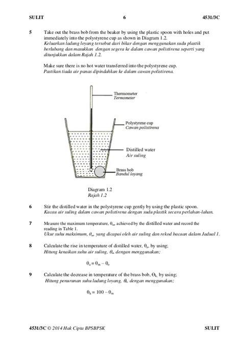 Mokhamano Polycarbonate Measuring Cup Gelas Ukur Plastik 250 Ml Sbp 2014 Fizik Kertas 3 Amali Tingkatan 4 Set C