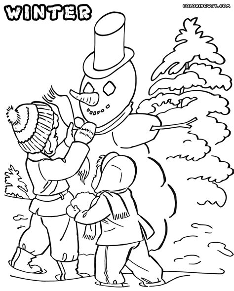 Winter Coloring Pages Coloring Pages To Download And Print Winter Coloring Pages