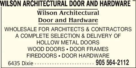 wilson architectural door hardware mississauga on
