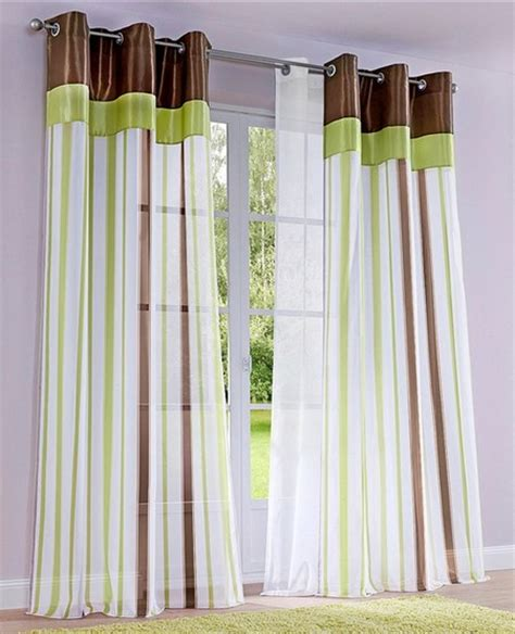 gardinen braun grün wohnideen wohnzimmer beige